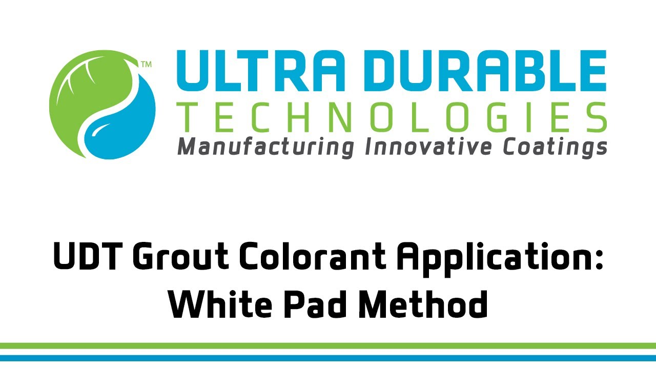 Ultra Durable Technologies Grout Coloring Process - YouTube