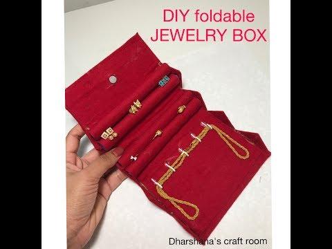 DIY travel Jewelry Box/Foldable jewelry box/Jewelry box from waste cardboard
