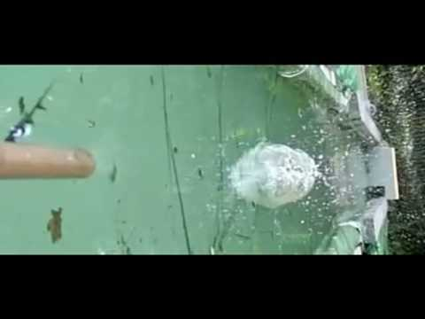 Bouncing Steel Balls on Water