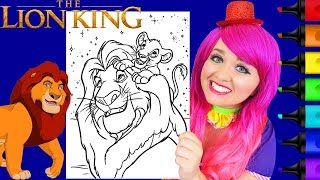 Coloring The Lion King Simba & Mufasa Disney Coloring Page Prismacolor Markers | KiMMi THE CLOWN