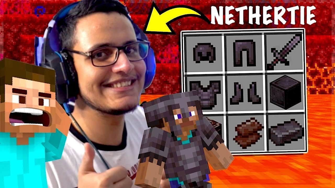 Getting Netherite to Fight Ender Dragon : Minecraft