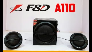 F amp D A110 - 3500 W PMPO Speakers Sound Test and Review Value for Money