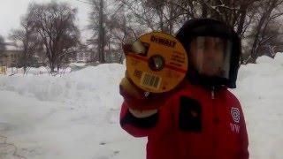 Тестирование отрезных дисков DeWalt(Тестирование отрезных дисков DeWalt 125*1мм стальная арматура Д=18мм., 2016-03-30T21:28:18.000Z)