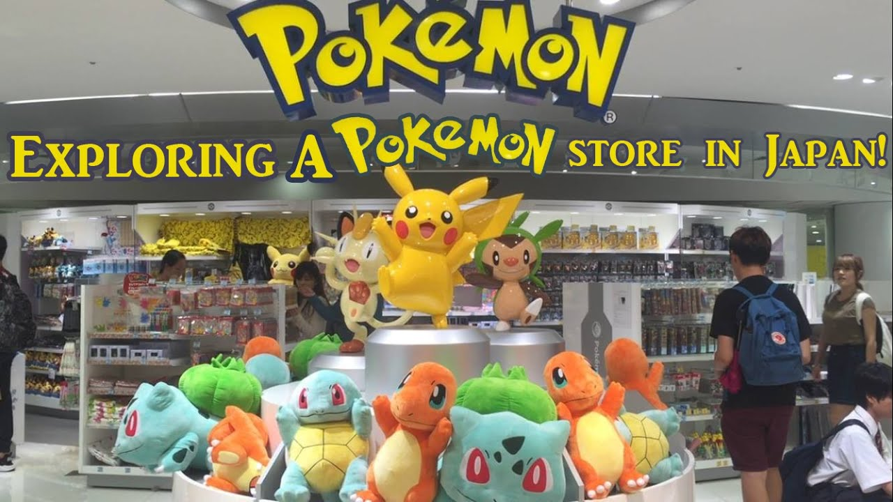 Exploring A Pokemon Store In Japan The Real Go