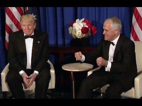 Trump Meets Australia's Prime Minister Malcolm Turnbull
