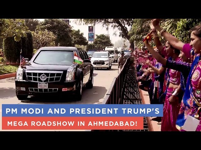 PM Modi and President Trump's mega roadshow in Ahmedabad!