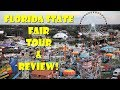 Florida State Fair Tour Featuring Ride POVS, Animals, Overall Review & More!