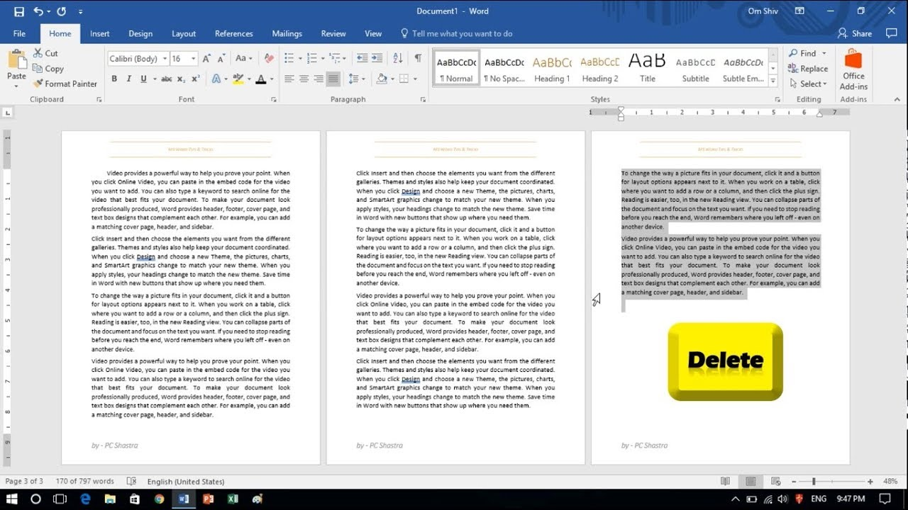 How to delete page in word 2016 youtube how to delete page in word 2016 ccuart Image collections