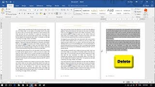 How to Delete Page in Word 2016