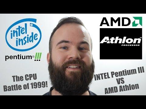 Intel Pentium III vs AMD Athlon, 600mhz Battle with 3DFX Voodoo3 3000!