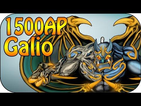 1500 Full AP Galio + 5 Man Ultimate Damage Test [german]