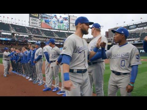 KC@MIN: Yost, Royals starters introduced