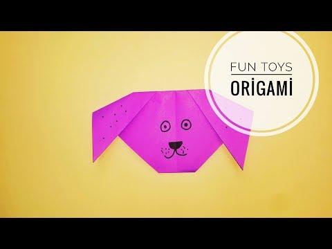 How to make a Paper Dog , Kağıttan Köpek Yapımı , DIY , How to make origami , Origami