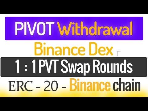 Pivot App Earning PVT Token Withdraw ERC -20 Swap Binance Dex Listing