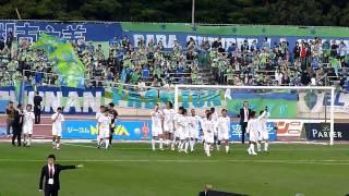2010J1リーグ第31節:湘南ベルマーレvs名古屋グランパス 試合終了後のベ...