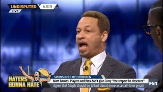 "Broussard AMUSED Barnes: Players and fans don't give Curry ""the respect he deserves"" 