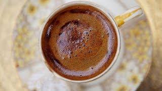 Bitter Çikolatalı Türk Kahvesi-Türk Kahvesi Nasıl Yapılır