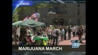 Global Cannabis March 2013 - Portland, Oregon - KOIN