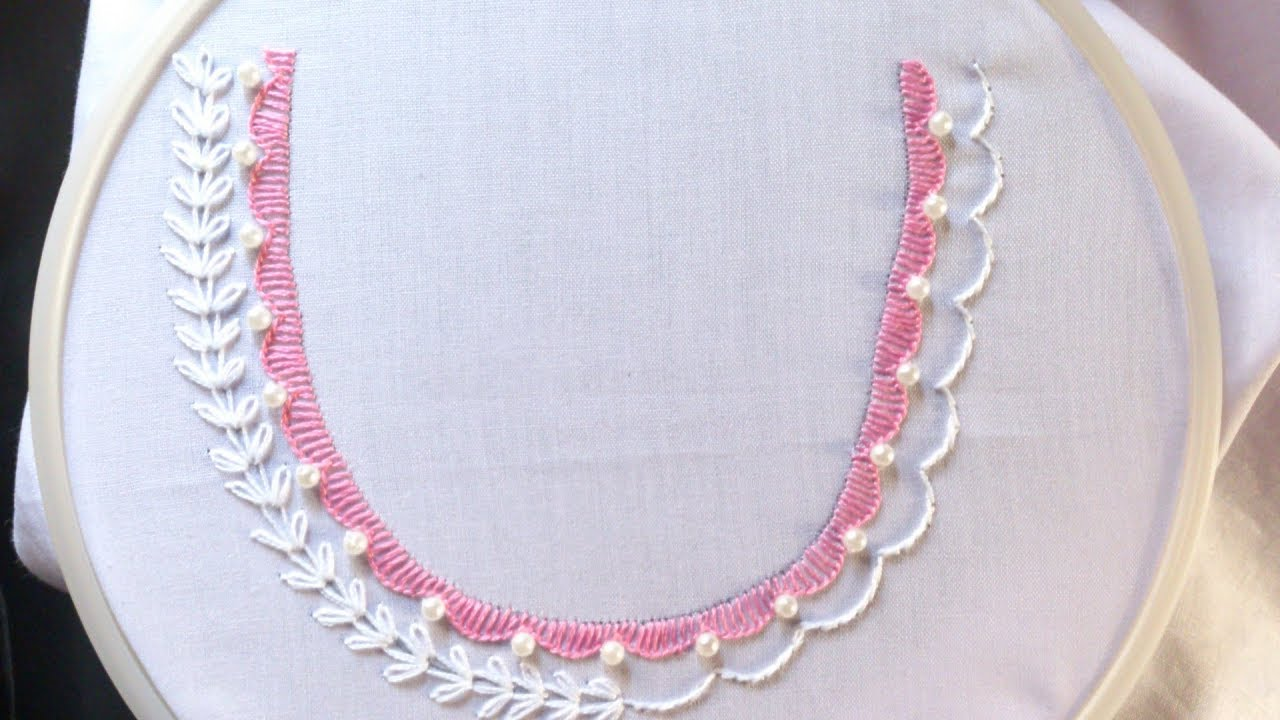 Hand Embroidery Neck Design For Dresses And Blouses Hand