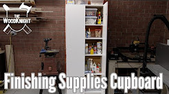 Simple Finishing Supplies Cabinet