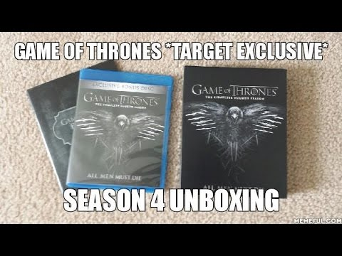 game of thrones target exclusive season 4 blu ray unboxing youtube. Black Bedroom Furniture Sets. Home Design Ideas