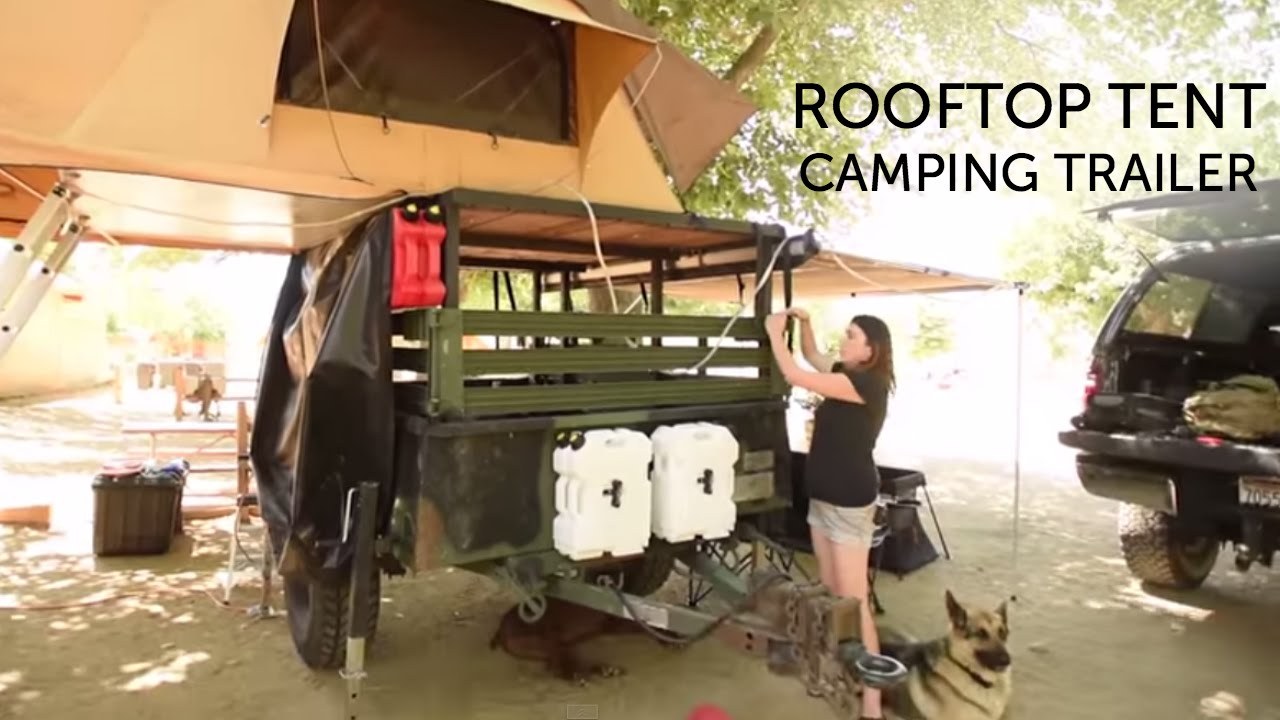 Our Rooftop Tent Camping Trailer Youtube
