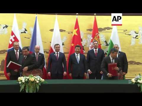 Chinese leaders meet European leaders in Beijing