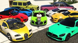 Luxury Cars Delivery to Franklin's Mansion in GTA 5! (Poor VS Rich)