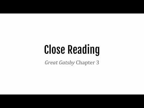 Great Gatsby Chapter 3 Model Think-Aloud
