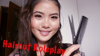 ASMR - Realistic Haircut Roleplay [Combing, Washing, Cutting...