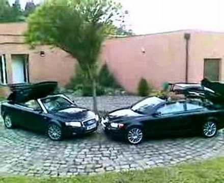 volvo c70 vs audi a4 cabrio youtube. Black Bedroom Furniture Sets. Home Design Ideas