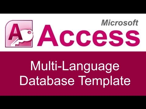 Microsoft Access Multi-Language Database Template