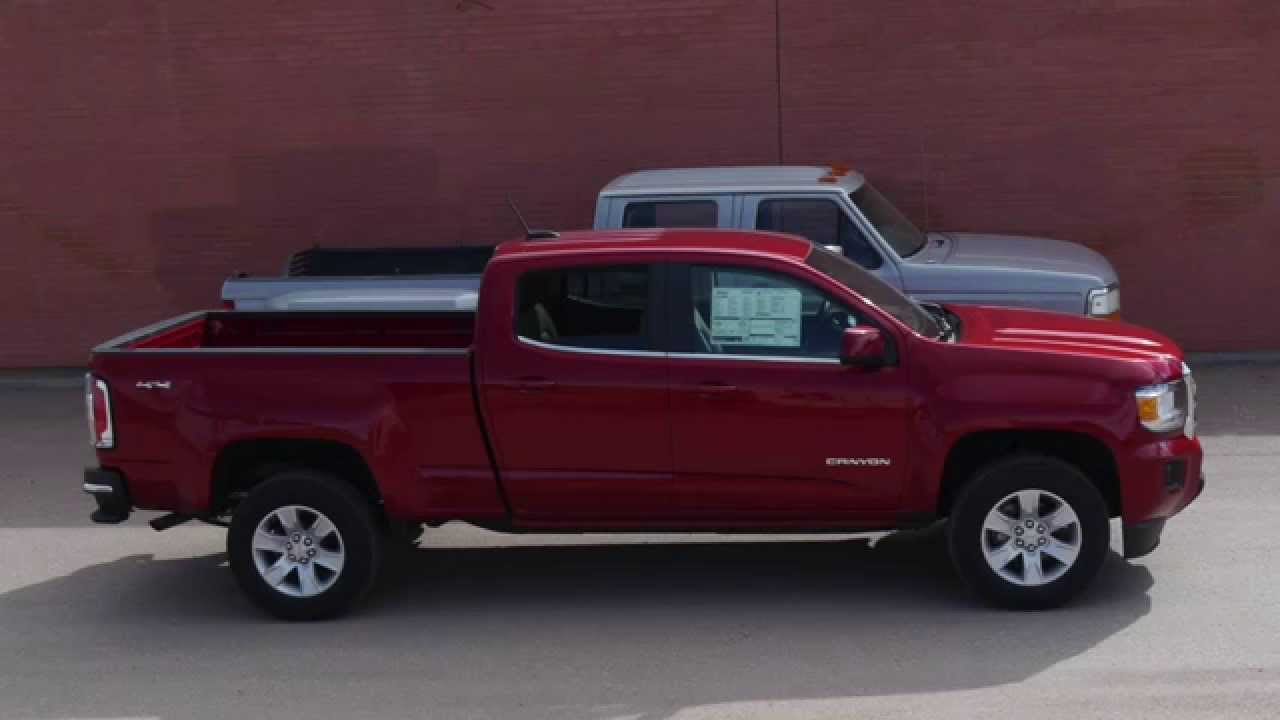 medium resolution of 2015 gmc canyon sle 4x4 crew cab the return of the compact truck youtube