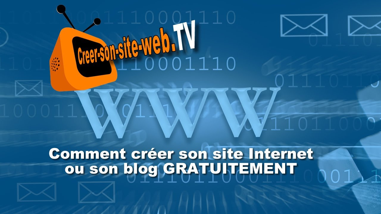 comment cr er un site internet ou un blog gratuit youtube. Black Bedroom Furniture Sets. Home Design Ideas