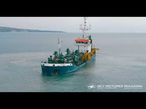 Ship drone aerial service Bulgaria drone ship repair time lapse video Ship drone inspection
