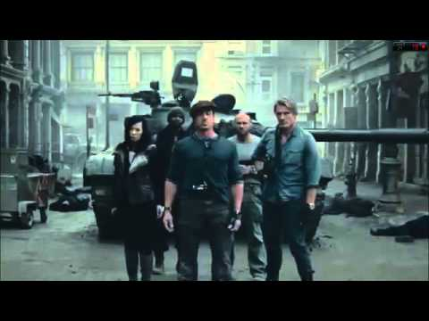 The Expendables 2  Chuck Noris u0027s Funny IntroFull Scene) HD