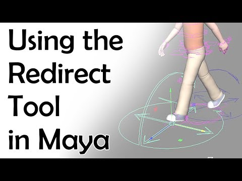 Using The Redirect Tool In Maya