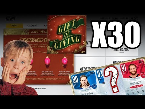 Opening 30+ Gift Of Giving Set Packs - Are They Worth It?! - NHL 18