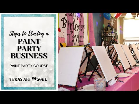 How to Throw a Paint Party