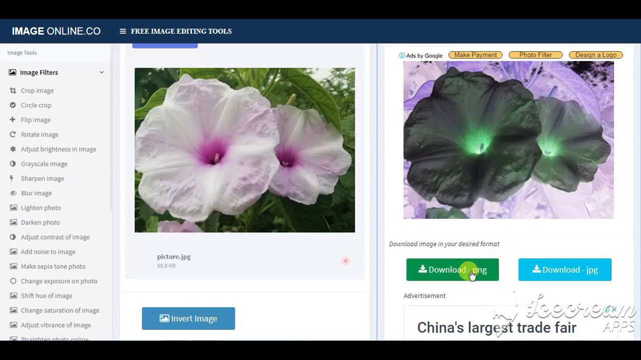Invert image (colors) online - Free tool
