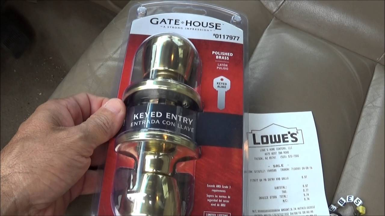 Lowes Led Light bulbs and Door knobs - YouTube
