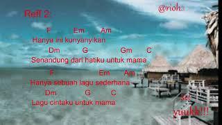 Chord Gitar|Cinta Untuk Mama~Kenny{Lirik&Chord}