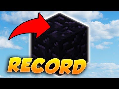 DÉFI OBSIDIAN RECORD MONDIAL - Minecraft BED WARS (1500+ OBSIDIAN)