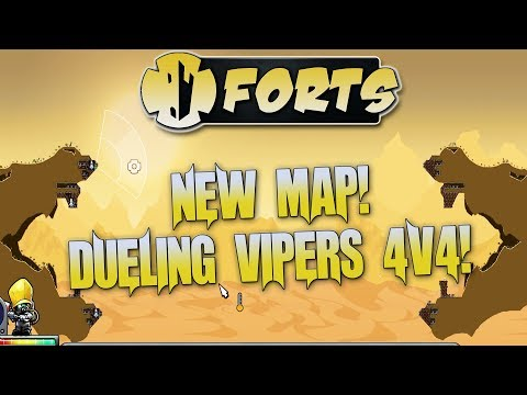 Forts Multiplayer 4v4 Gameplay Awesome New Map Dueling Vipers 4v4