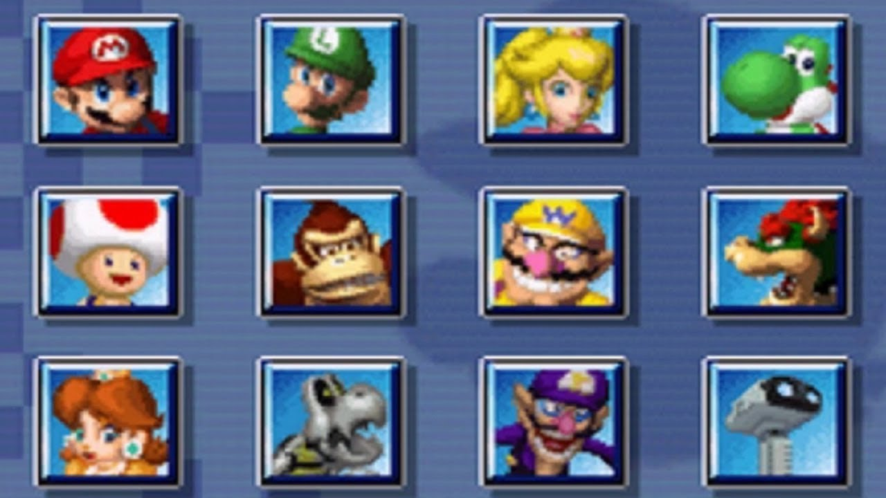 Mario Kart Ds All Characters Youtube