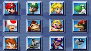 Mario Kart DS - All Characters (Gameplay Showcase)