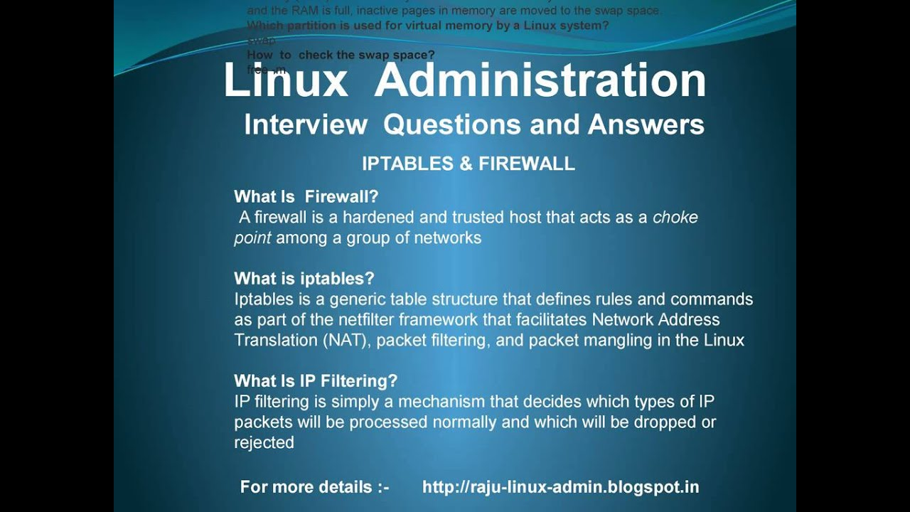 linux interview questions and answers - Linux Administrator Interview Questions And Answers