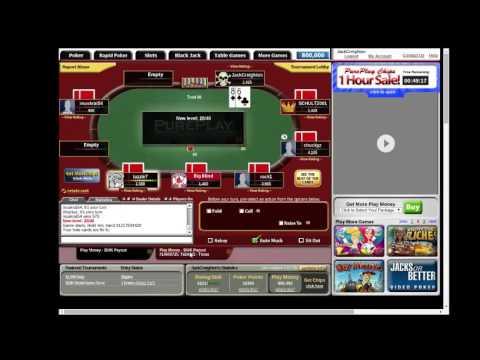 PurePlay $50k Play Money MTT Texas Holdem Online Poker