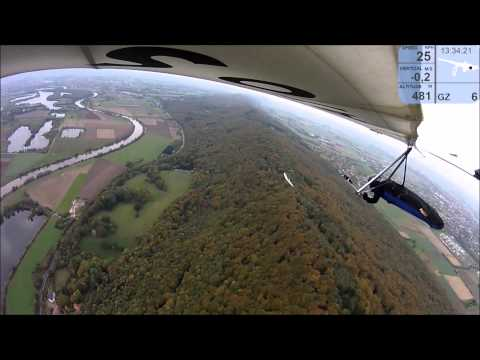 Porta Westfalica Hanggliding Ridge Racing Ufo mit Atos 2014-10-25