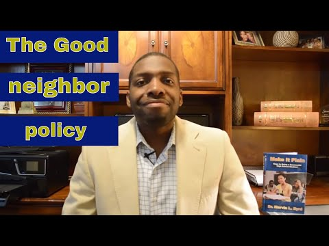 The Good Neighbor Policy (US Foreign Policy)
